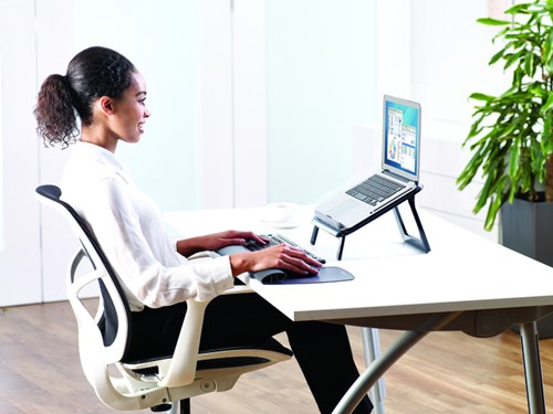 Laptopstandaard Fellowes I-Spire Quick Lift zwart-1