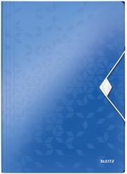 Elastomap Leitz WOW A4 3 kleppen PP blauw