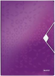 Elastomap Leitz WOW 3-kleps A4 PP paars