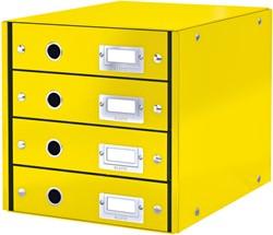 Ladenbox Leitz WOW Click & Store 4 laden geel