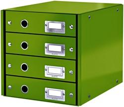 Ladenbox Leitz WOW Click & Store 4 laden groen
