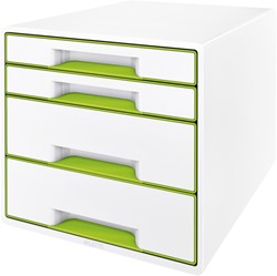 Ladenblok Leitz WOW Cube 4 laden wit/groen
