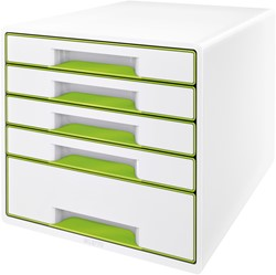 Ladenblok Leitz WOW Cube 5 laden wit/groen