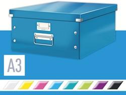 Opbergbox Leitz WOW Click & Store 369x200x482mm blauw