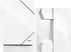 Elastomap Leitz WOW 3-kleps A4 karton wit