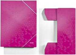 Elastomap Leitz WOW 3-kleps A4 karton roze