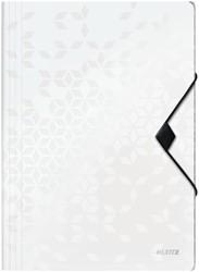 Elastomap Leitz WOW A4 3 kleppen PP wit