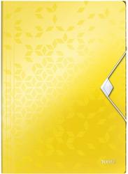 Elastomap Leitz WOW A4 3 kleppen PP geel