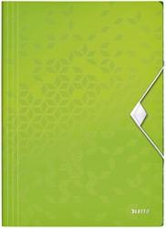 Elastomap Leitz WOW A4 3 kleppen PP groen
