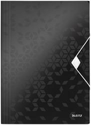 Elastomap Leitz WOW A4 3 kleppen PP zwart