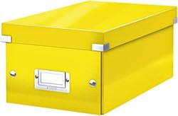 DVD-box Leitz WOW Click&Store 206 x 147 x 352 mm geel