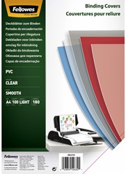 Voorblad Fellowes A4 PVC 180micron 100stuks