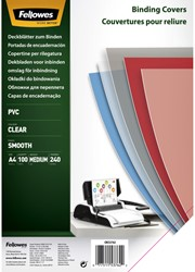 Voorblad Fellowes A4 PVC 240micron 100stuks