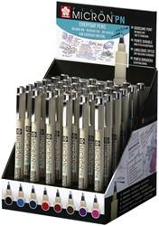 Fineliner Sakura pigma micron 0.4mm display à 36 stuks assorti