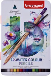Kleurpotloden Bruynzeel aquarel Expression blik à 12 stuks assorti