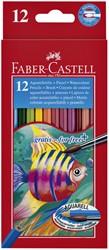 Kleurpotloden Faber Castell aquarel incl penseel set à 12 stuks assorti