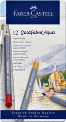Kleurpotloden Faber Castell Goldfaber aquarel blik à 12 stuks assorti