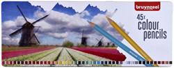 Kleurpotloden Bruynzeel Holland blik à 45 stuks assorti