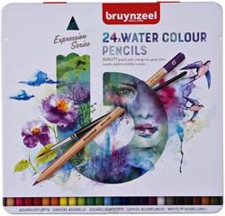 Kleurpotloden Bruynzeel aquarel Expression blik à 24 stuks assorti