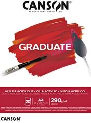 Olie Acrylblok Canson Graduate A4 290gr 20vel