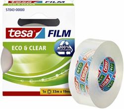Plakband Tesa 57043 eco&clear 19mmx33m