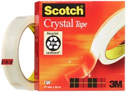 Plakband Scotch Crystal 600 19mmx66m transparant
