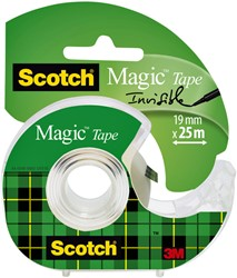 Plakband Scotch Magic 810 19mmx25m onzichtbaar + afroller
