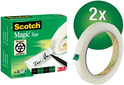Plakband Scotch Magic 810 12mmx66m onzichtbaar mat