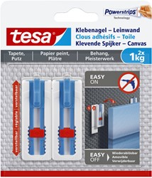 Klevende spijker Tesa voor canvas op behang en pleisterwerk 1kg