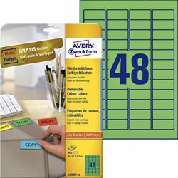 Etiket Avery L6040-20 45.7x21.2mm groen 960stuks