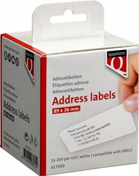 Labeletiket Quantore 99012 36x89mm adres wit