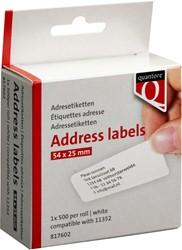 Labeletiket Quantore 11352 54x25mm retour wit