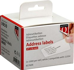 Labeletiket Quantore 11354 57mmx32mm wit