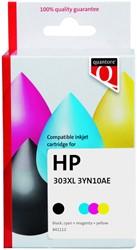 Inktcartridge Quantore HP 3YN10AE 303XL zwart + kleur