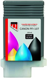 Inktcartridge Quantore Canon PFI-107 licht zwart