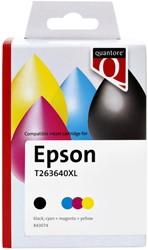 Inkcartridge Quantore Epson T263640XL zwart + 3 kleuren