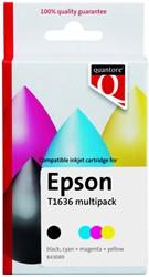 Inktcartridge Quantore Epson 16XL T1636 zwart + 3 kleuren HC