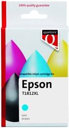 Inktcartridge Quantore Epson 18XL T1812 blauw