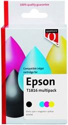 Inktcartridge Quantore Epson 18XL T1816 zwart 3 kleuren