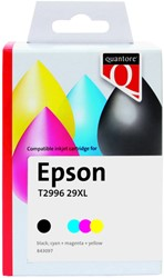 Inktcartridge Quantore Epson 29XL T2996 zwart + 3 kleuren remanufactured