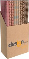 Inpakpapier Design Group 200x70cm kraft assorti