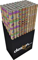 Inpakpapier Design Group hotstamp regenboog 150x70cm kraft bruin assorti