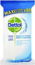 Desinfecterende doekjes Dettol hygiëne 80st