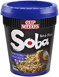 Nissin Soba Noodles yakitori cup