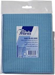 Glasdoek Felicia blauw 40x40cm