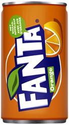 Frisdrank Fanta Orange blikje 0.15l