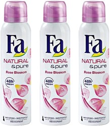 Fa natural & Pure Rose Blossem 3x150ml