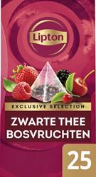Thee Lipton Exclusive Bosvruchten 25 piramidezakjes