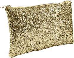 Etui Lannoo QC Sparkle Cosmetic 21cm glitter goud