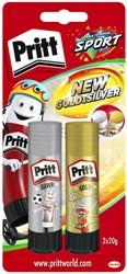 Lijmstift Pritt 20gram goud en zilver